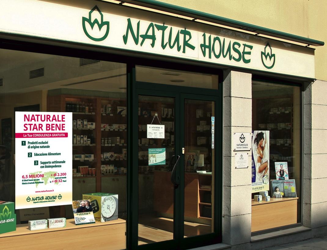 vetrina negozio franchising naturhouse