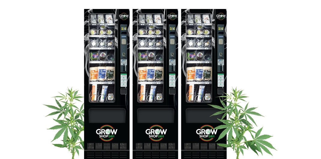 GrowShop 24H, distributori automatici in franchising di cannabis light