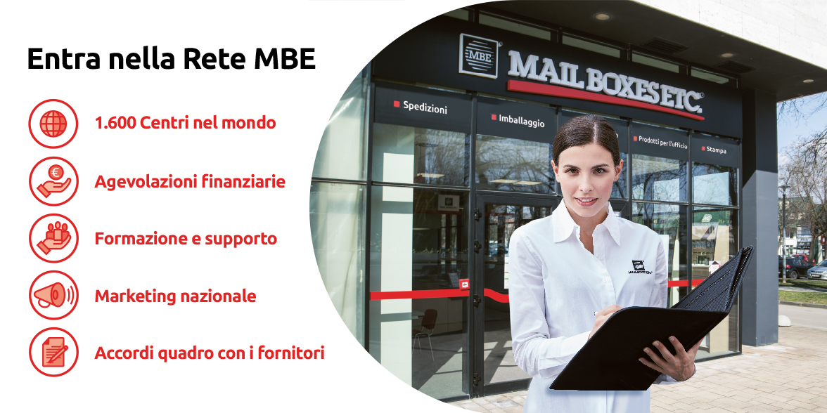 Entra nel franchising Mail Boxes Etc